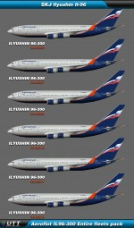 Ilyushin Il-96 Aeroflot (Entire fleet pack)