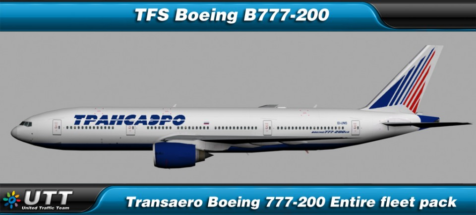 Boeing B777-200 Transaero (Entire fleet pack)