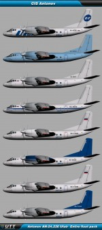 Antonov An-24,26 Utair Express (Entire fleet pack)