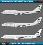 Orient Thai Boeing 747-400 & Boeing 767-300