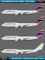 Orient Thai Boeing 747-300 & Boeing 747-400