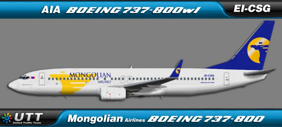 Mongolian Airlines Boeing 737-800wl EI-CSD