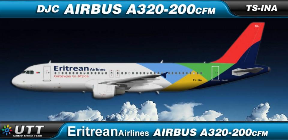 Eritrean Airlines Airbus A320-200 TS-INC