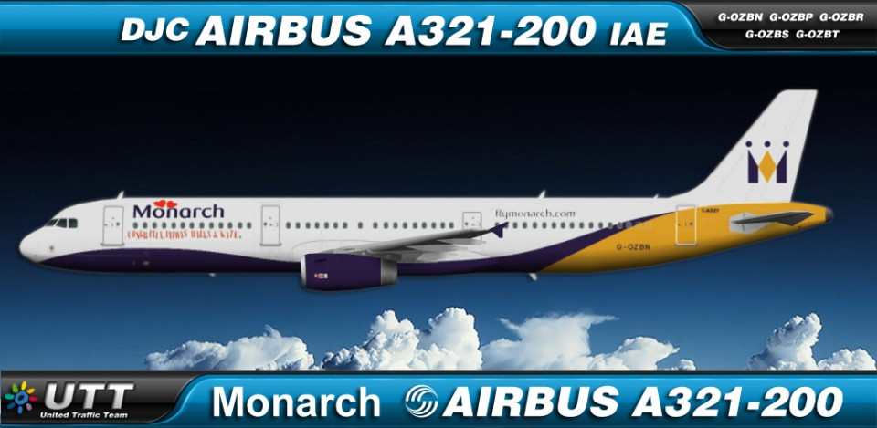 Monarch Airlines Airbus A321-200 fleet