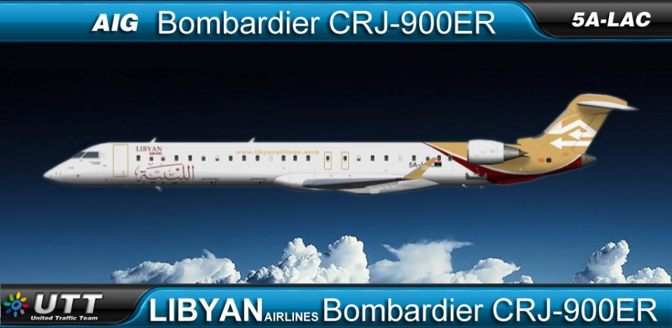 Libyan Airlines Bombardier CRJ900 5A-LAC