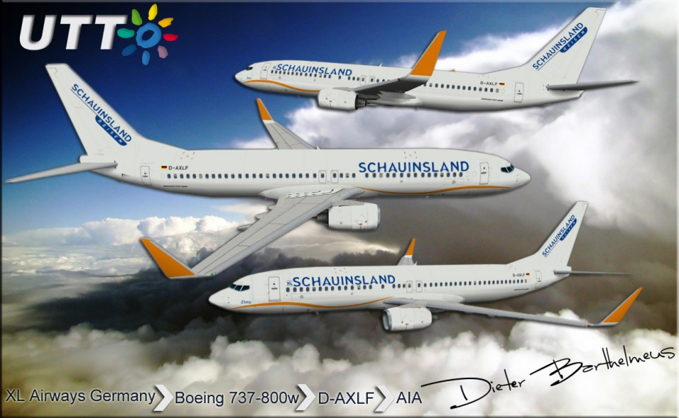 XL Airways Germany Boeing 737-800w D-AXLF