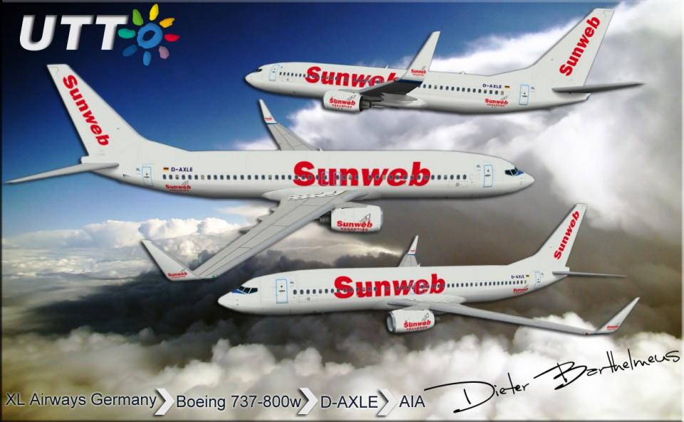 XL Airways Germany Boeing 737-800w D-AXLE