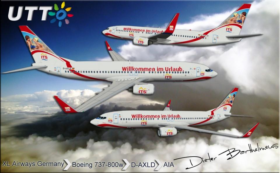 XL Airways Germany Boeing 737-800w D-AXLD