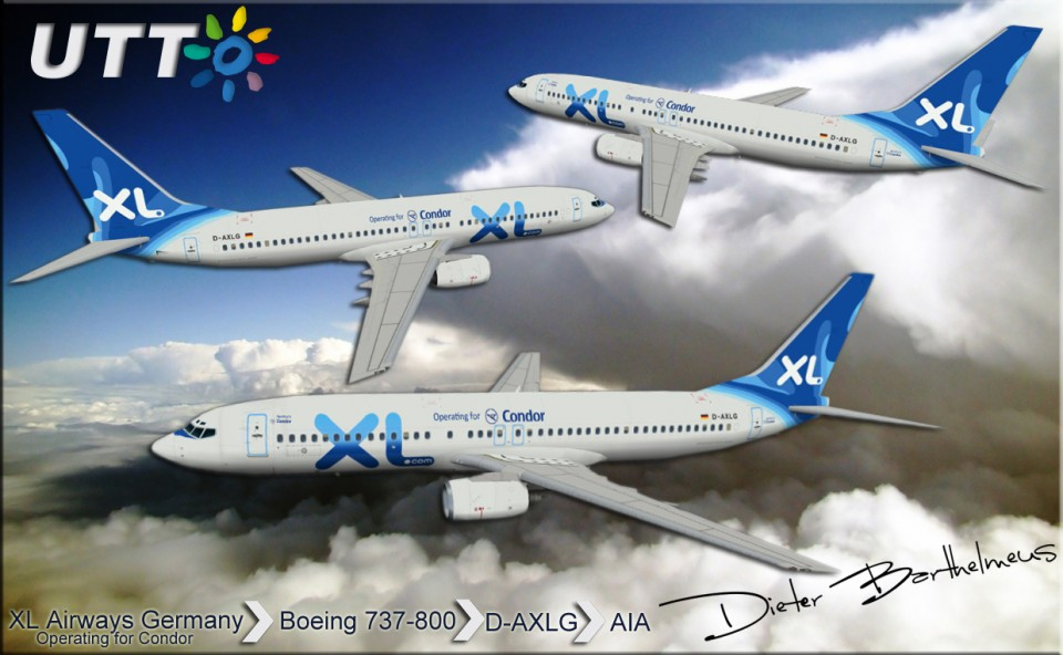 XL Airways Germany Boeing 737-800 D-AXLG