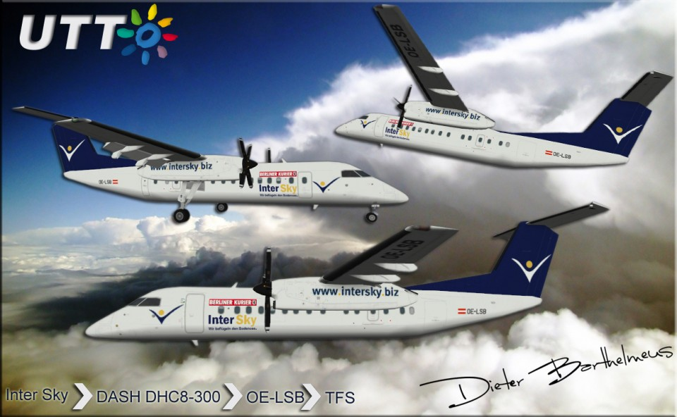 Intersky Dash DHC-8-300 OE-LSB