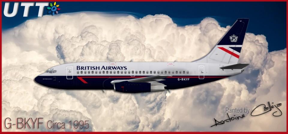 British Airways Boeing 737-200 G-BKYF