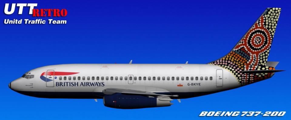 British Airways UTT Boeing 737-200 (G-BKYE) Retro