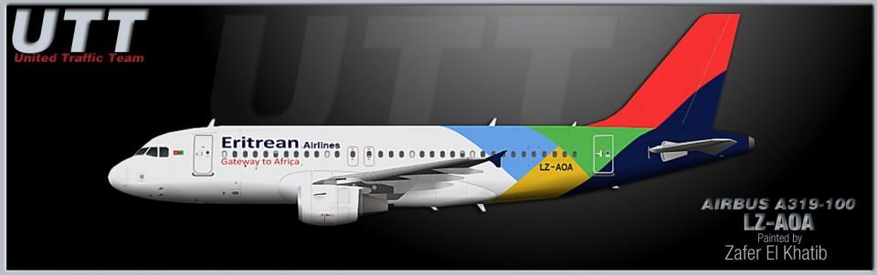 Eritrean Airlines Airbus A319-100 LZ-AOA