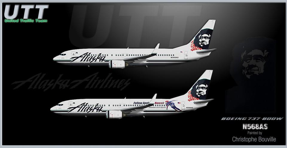 Alaska Airlines Boeing 737-800w N568AS (2 versions)