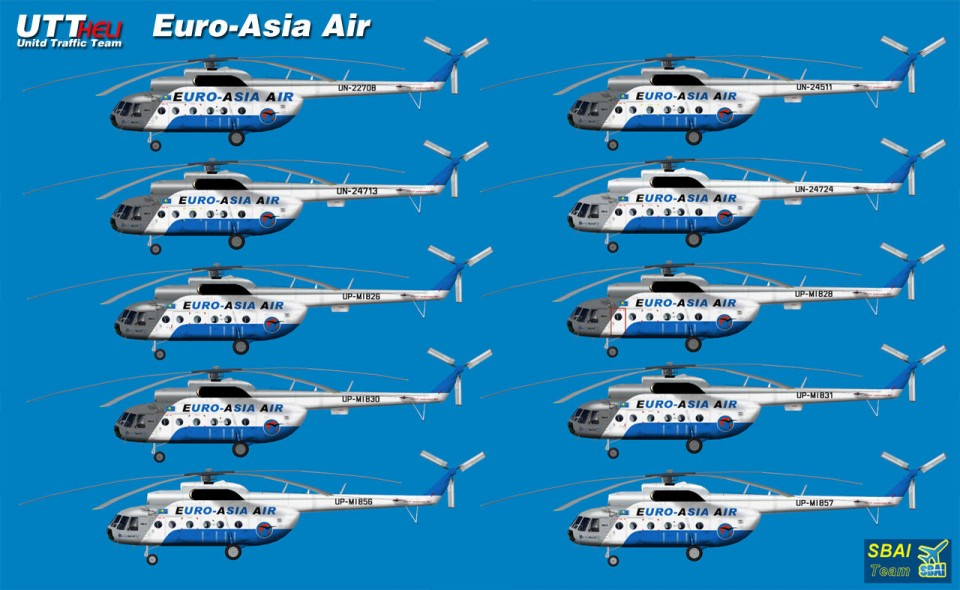 Euro-Asia Air AI Helicopters Mi-8T