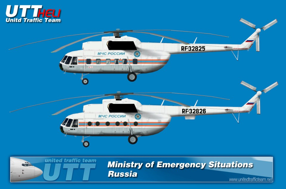 Ministry of Emergency Situations (Russia) AI Helicopters Mi-8T