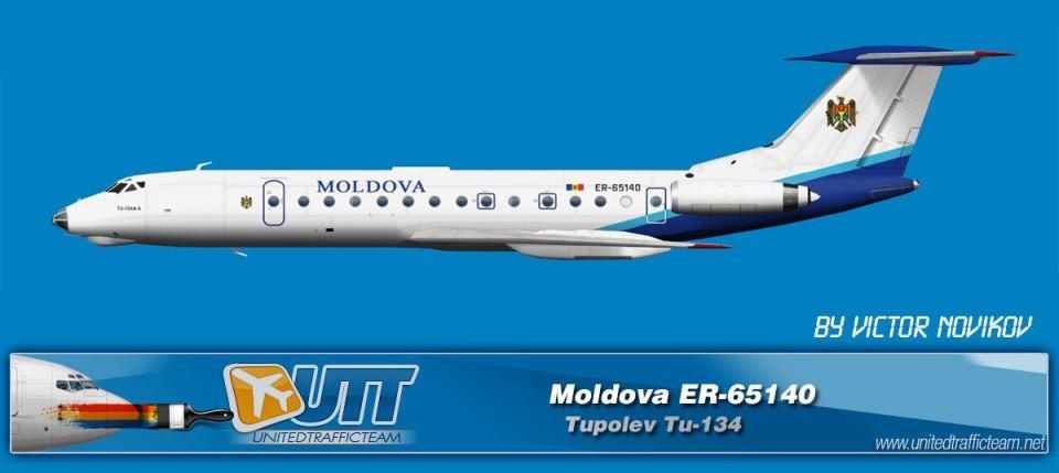 MOLDOVA ER-65140 AI Tupolev TU-134
