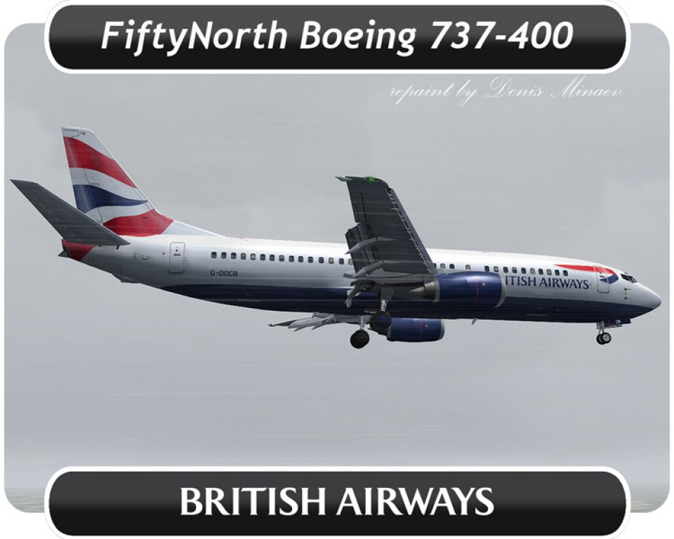 British Airways Boeing 737-400 - G-DOCB