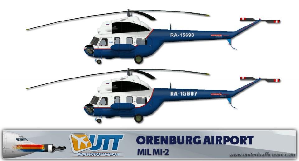 Orenburg Airport Mil Mi-2