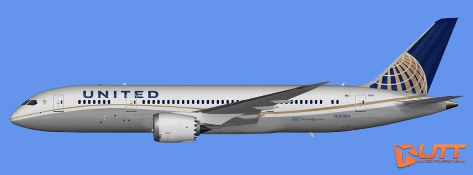 United Airlines Boeing 787-8 Dreamliner Pack