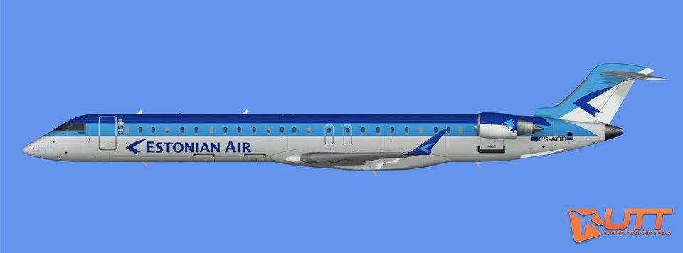 Estonian Air CRJ-900 (FSX)