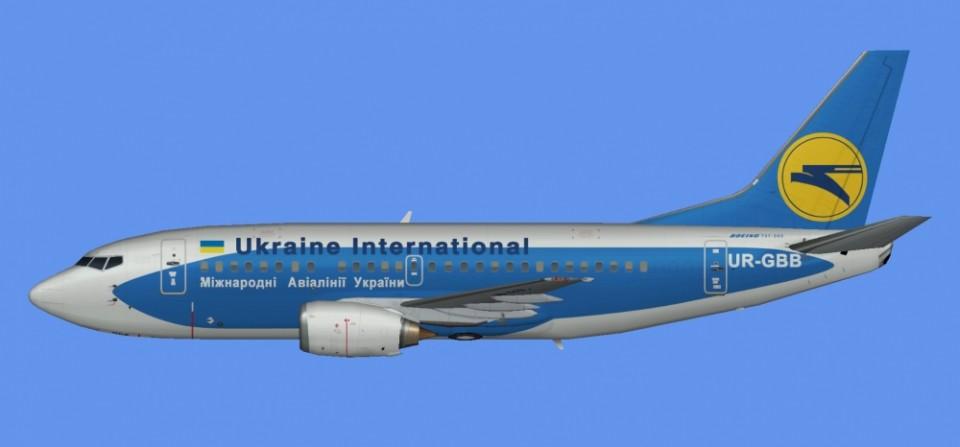 Ukraine Intl Boeing 737-500 hybrid