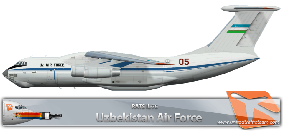 RATS Uzbekistan Air Force IL-76 05 RED